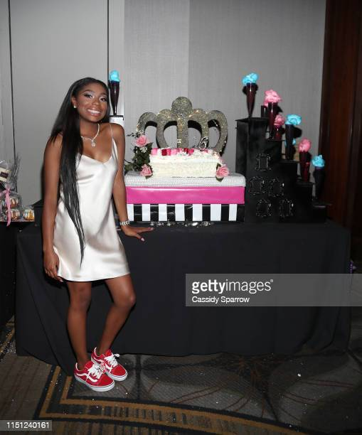 Jirah Mayweather attends her Sweet 16 Birthday Party at Hyatt In Valencia on June 20 2019 in Valencia California