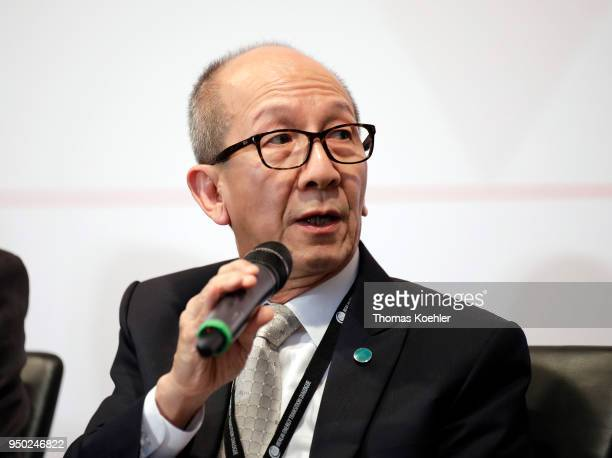 Jirapongphan Siri Minister for Energy Thailand speaks during the 'Berlin Energy Transition Dialogue' on April 18 2018 in Berlin Germany