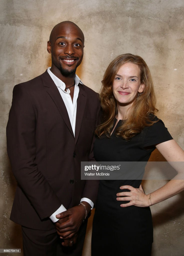 Jireh Breon Holder and Margot Bordelon attend the Roundabout Theatre Company's Opening Night Party for 'Too Heavy For Your Pocket' at Burger and Lobster on October 5, 2017 in New York City.