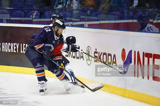 Jiri Bicek of HC Kosice makes a pass during the Champions Hockey League  group stage game 5e7a23edb09