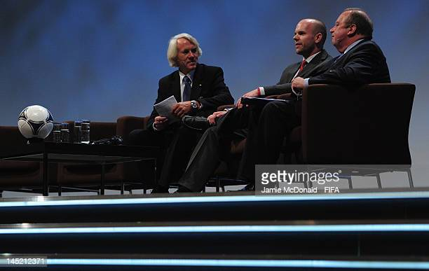 Jiri Dvorak FIFA Chief Medical Officer Craig Hulse amature football player Kansas City USA and Dr Michael D'Hooghe Chairman of FIFA and UEFA Medical...