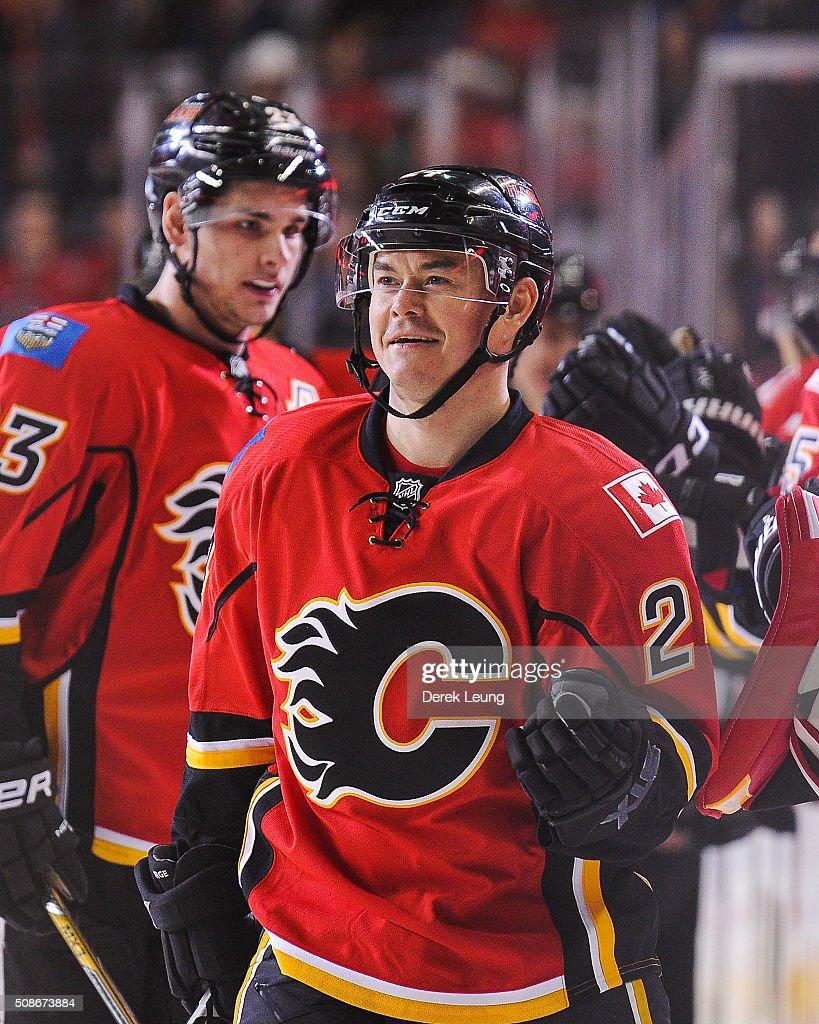Columbus Blue Jackets v Calgary Flames : News Photo