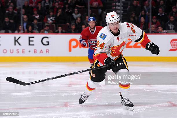 Jiri Hudler of the Calgary Flames skates during the NHL game against the Montreal Canadiens at the Bell Centre on November 2 2014 in Montreal Quebec...