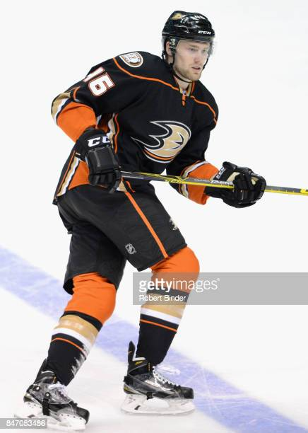 Jiri Sekac of the Anaheim Ducks plays in the game against the Colorado Avalanche at Honda Center on March 20 2015 in Anaheim California
