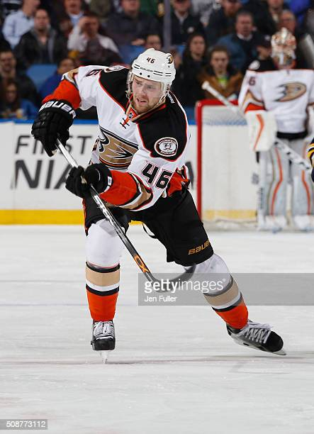 Jiri Sekac of the Anaheim Ducks skates against the Buffalo Sabres at First Niagara Center on December 17 2015 in Buffalo New York
