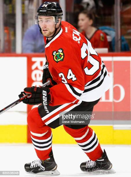 Jiri Sekac of the Chicago Blackhawks plays in the game against the Nashville Predators at the United Center on February 25 2016 in Chicago Illinois
