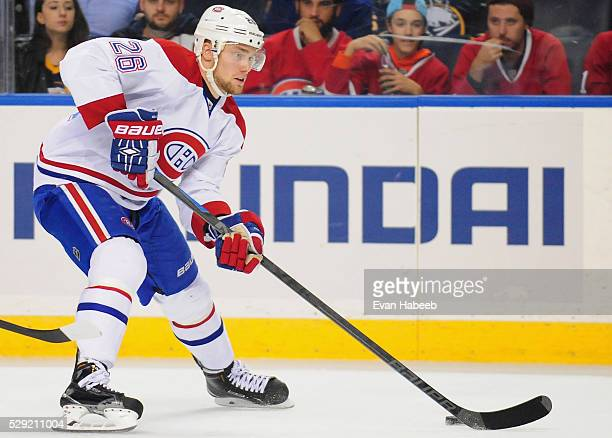 Jiri Sekac of the Montreal Canadiens plays in the game against the Buffalo Sabres at the First Niagara Center on November 5 2014 in Buffalo New York