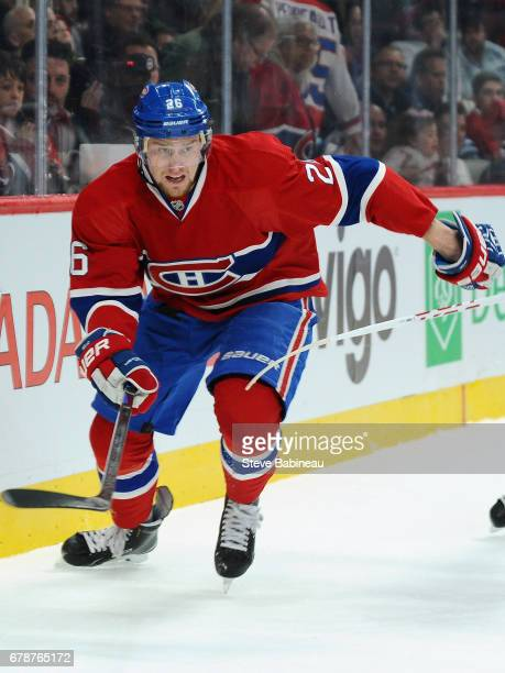 Jiri Sekac of the Montreal Canadiens plays in the game against the Winnipeg Jets at Bell Centre on November 11 2014 in Montreal Quebec Canada