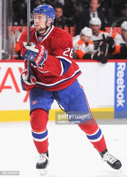 Jiri Sekac of the Montreal Canadiens plays in the game against the Philadelphia Flyers at the Bell Centre on November 15 2014 in Montreal Quebec...