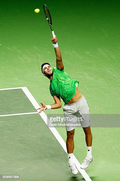 Jiri Vesely of the Czech Republic in action against Roberto Bautista Agut of Spain during day 4 of the ABN AMRO World Tennis Tournament held at Ahoy...