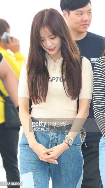 Jisoo of BLACKPINK is seen upon departure at Incheon International Airport on June 06 2019 in Incheon South Korea