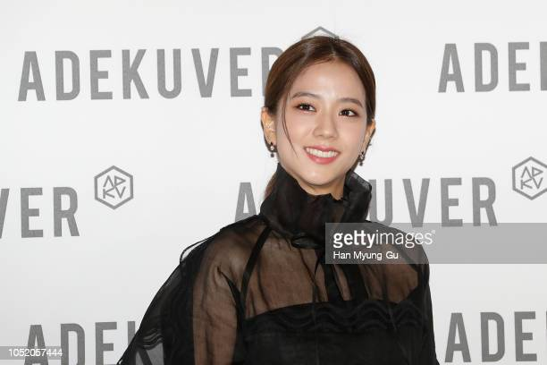 Jisoo of South Korean girl group BLACKPINK attends the photocall for ADEKUVER on October 11, 2018 in Seoul, South Korea.
