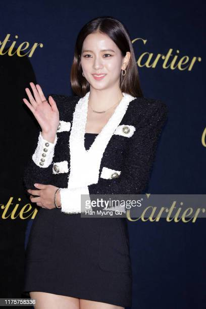 Jisoo of South Korean girl group BLACKPINK attends the Photocall for 'Cartier' Juste Un Clou launch party on September 19, 2019 in Seoul, South Korea.