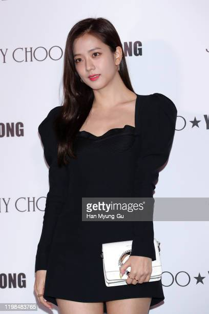Jisoo of South Korean girl group BLACKPINK attends the photocall for 'Jimmy Choo X YK Jeong' collaboration the highlighted capsule product launch...