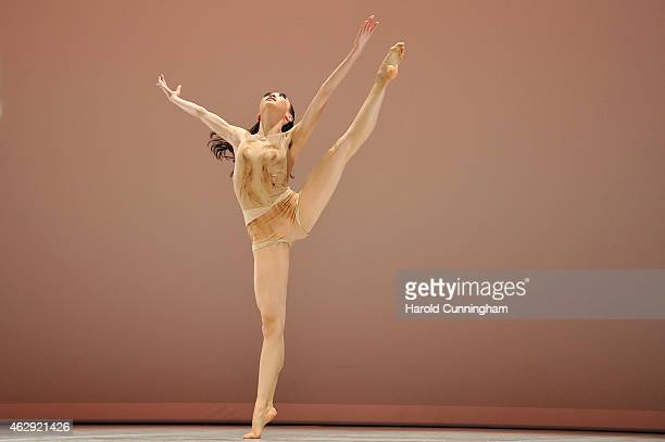 Jisoo Park of South Korea from Seoul Art High School, Seoul, South Korea performs during the contemporary selections of the 43rd International Ballet...