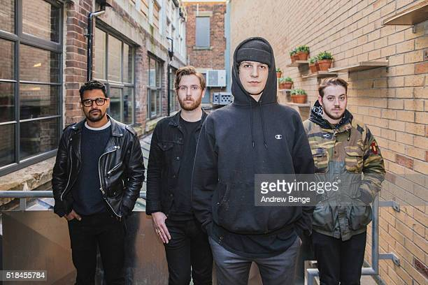 Jith Amara Steve Goddard James Cox and Laurence Rushworth of Crows pose at Headrow House on March 31 2016 in Leeds England