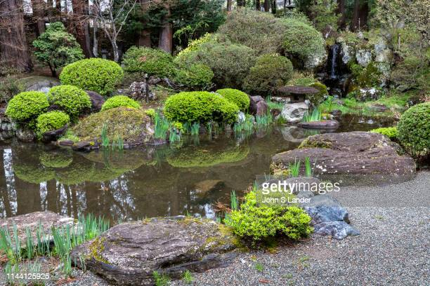 Jiunji Temple Pond Garden - Jiunji Temple is blessed with a variety of growth: pine, cherry blossoms as well as a dry rock garden and moss which...