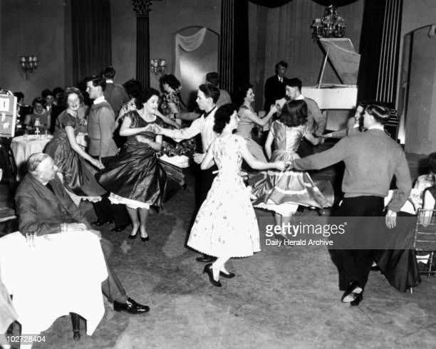 Jive dancing 1957 Jive dancing 1957 'Dancing on 'Christ in Cabaret' a religious show on commercial TV presented by the Reverend Robert Duce of Petts...