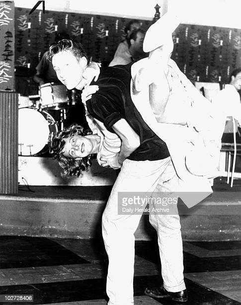 Jive dancing at Butlin's Holiday Camp c 1958 'Ted Stoten and Maude Lord who had danced together for only a few hours won theœ00 prize in this week's...