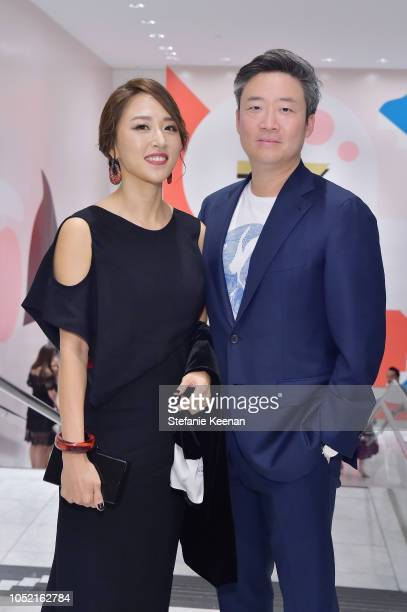 Jiwon Song and Steven Song attend the Hammer Museum 16th Annual Gala in the Garden with generous support from South Coast Plaza at the Hammer Museum...