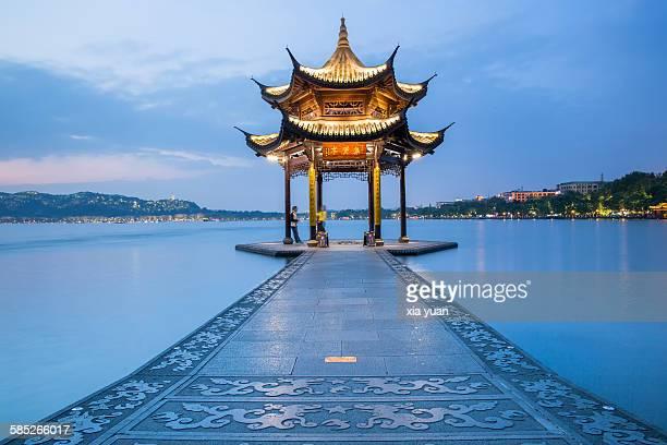 Jixian Pavilion of Hangzhou West Lake, China