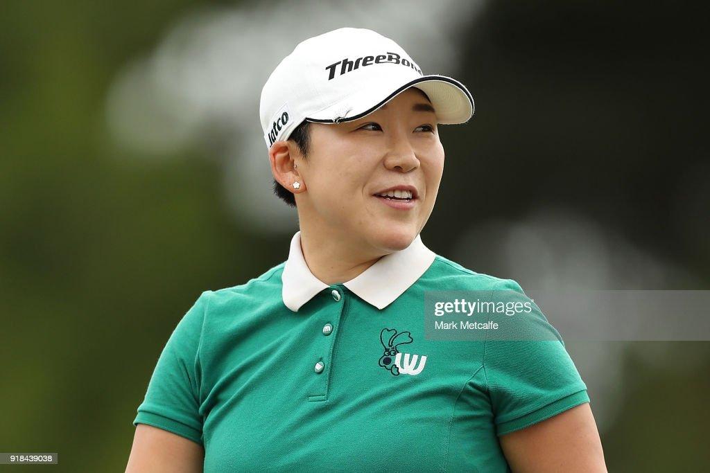 Jiyai Shin of South Korea smiles during day one of the ISPS Handa Australian Women's Open at Kooyonga Golf Club on February 15, 2018 in Adelaide, Australia.