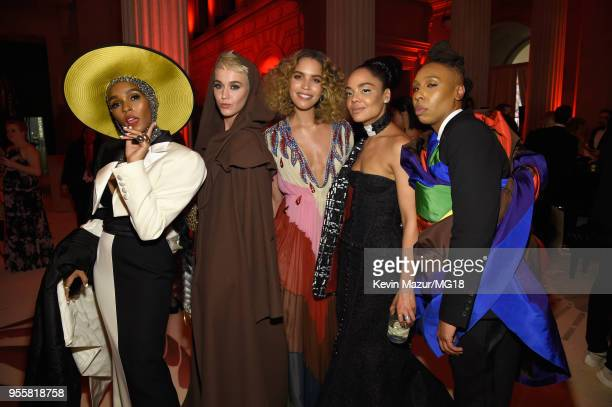 JJanelle Monae Katy Perry Cleo Wade Tessa Thompson and Lena Waithe attend the Heavenly Bodies Fashion The Catholic Imagination Costume Institute Gala...