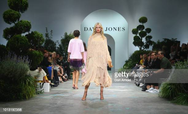 JKarolina Kurkova showcases designs during the David Jones Spring Summer 18 Collections Launch at Fox Studios on August 8 2018 in Sydney Australia