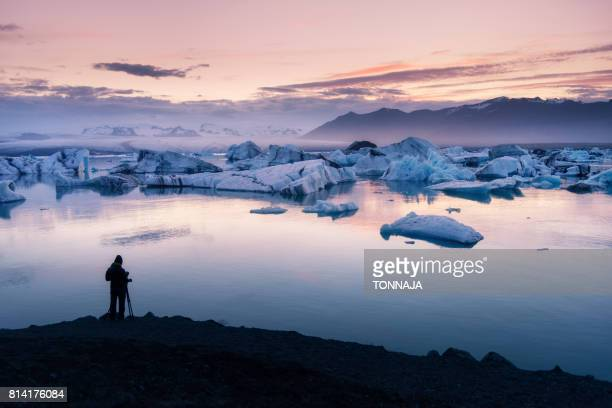 jökulsárlón glacier lagoon, iceland - glacier lagoon stock photos and pictures