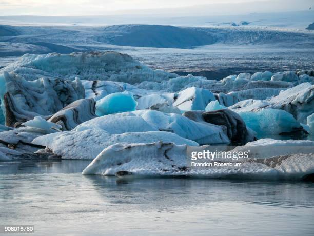 jökulsárlón glacier lagoon in iceland - glacier lagoon stock photos and pictures