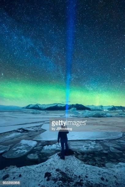 jökulsárlón, glacier lagoon - aurora illinois stock photos and pictures