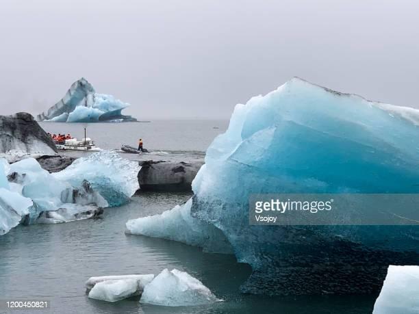 jökulsárlón glacier lagoon v, iceland - vsojoy stock pictures, royalty-free photos & images