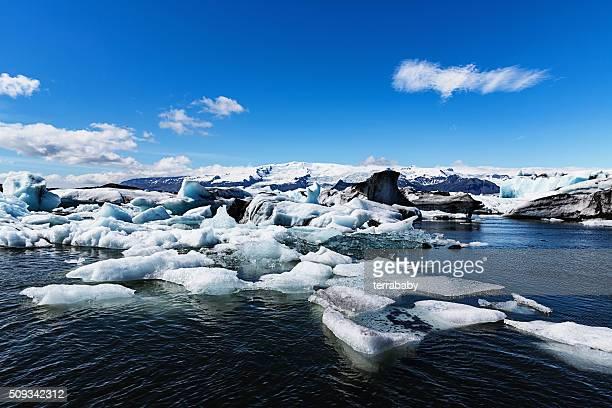 Glaciar Jökulsárlón Lago na Islândia