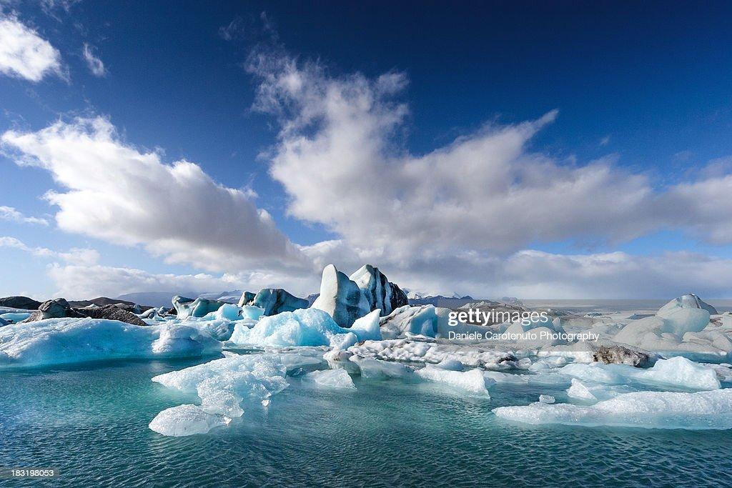 Jökulsárlón - Glacier River Lagoon : Stock Photo