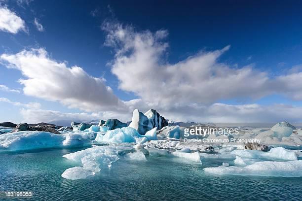 jökulsárlón - glacier river lagoon - daniele carotenuto stock pictures, royalty-free photos & images