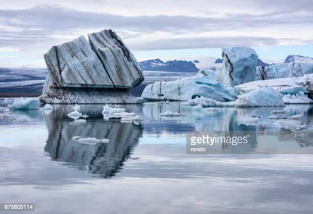 jökulsárlón, iceland - glacier lagoon stock photos and pictures