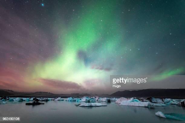 Jökulsárlón Northern Lights