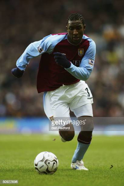Jlloyd Samuel of Aston Villa during the FA Barclaycard Premiership match between Aston Villa and Arsenal at Villa Park on January 18 2004 in...
