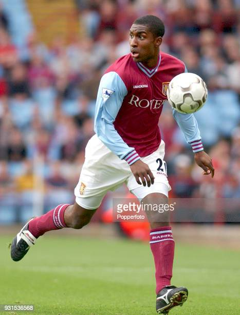 Jlloyd Samuel of Aston Villa in action during the FA Barclaycard Premiership match between Aston Villa and Leeds United at Villa Park in Birmingham...