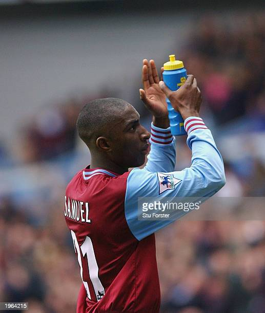JLloyd Samuel of Aston Villa leaves the field during the FA Barclaycard match between Aston Villa and Chelsea held on April 19 2003 at Villa Park...