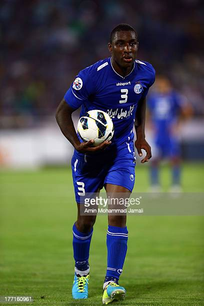 Jlloyd Tafari Samuel during the AFC Champions League Quarter Final match between Esteghlal and Buriram United at Azadi Stadium on August 21 2013 in...