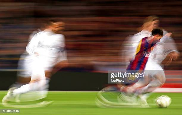 Leo Messi in the match between FC Barcelona and Real Madrid for the week 28 of the Liga BBVA played at the Camp Nou on march 22 2015 Photo Joan...