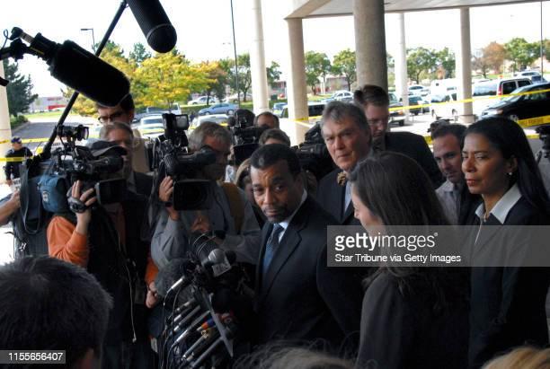 Jmcleister@startribune.com Edina,Mn.,Weds.,Sept. 26, 2007--William Martin, U.S. Sen. Larry Craig's lead attorney, spoke to the media gathered outside...