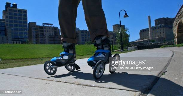 MCLEISTER ¥ jmcleister@startribunecom MinneapolisMnFriJune 8 2007The LandRoller is a new style roller blade with two outboard mounted oversize...