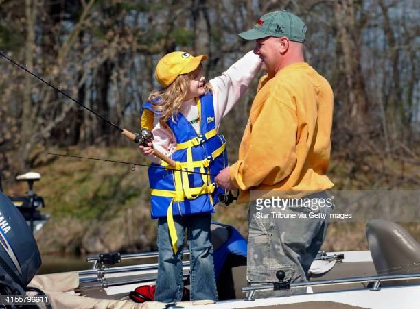 MCLEISTER ¥ jmcleister@startribunecom Spring ParkMnSatApril 28 2007 Sevenyearold Abby Thoma blood cancer survivor fished with her dad Scott Thoma...