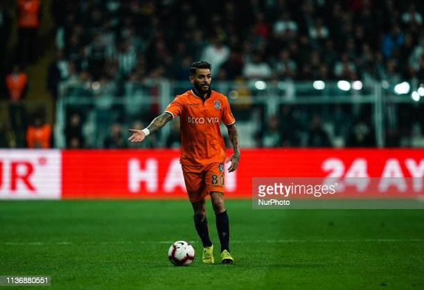 Júnior Caiçara of Istanbul Basaksehir during Besiktas J.K v stanbul Basaksehir, Turkish Super Lig, on April 13,2019 in Vodafone Park , Istanbul,...