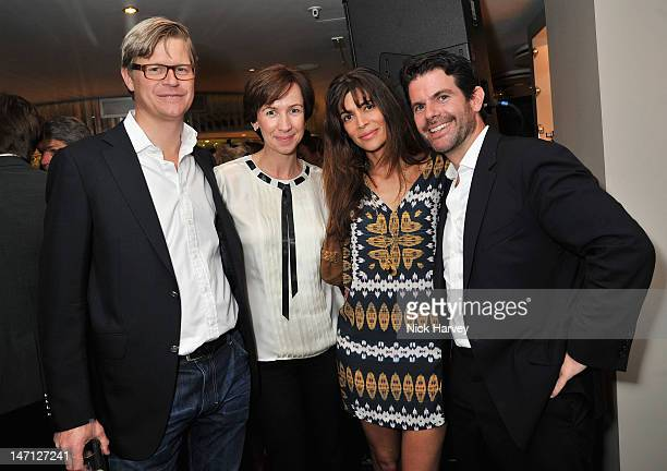 Jo Alison, Lisa B and Max Gottschallk attend the launch of Jax Coco coconut water at Harvey Nichols on June 25, 2012 in London, England.
