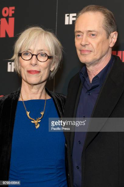 Jo Andres and Steve Buscemi attend New York premiere of IFC Film Death of Stalin at AMC Lincoln Square