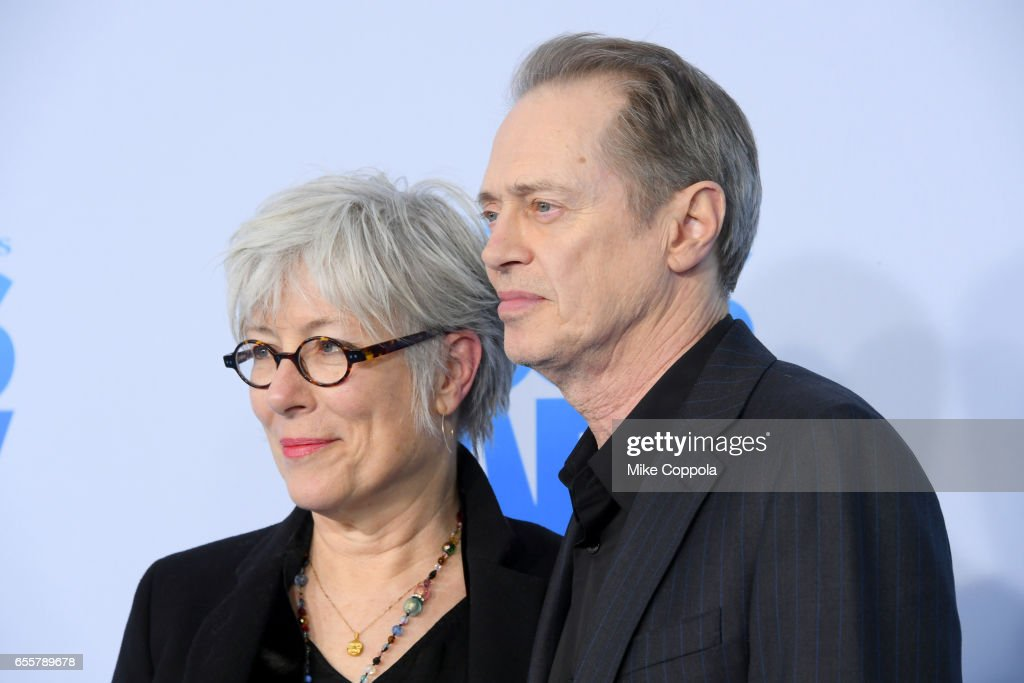 Jo Andres and Steve Buscemi attend 'The Boss Baby' New York Premiere at AMC Loews Lincoln Square 13 theater on March 20, 2017 in New York City.