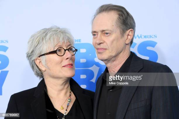 Jo Andres and Steve Buscemi attend The Boss Baby New York Premiere at AMC Loews Lincoln Square 13 theater on March 20 2017 in New York City